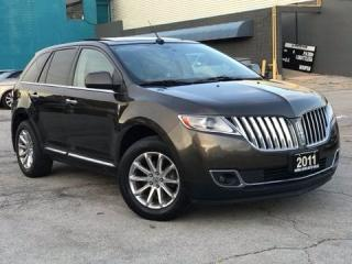 Used 2011 Lincoln MKX AWD|Navi|DVD|Leather|Sunroof|Bluetooth|Push start for sale in Burlington, ON