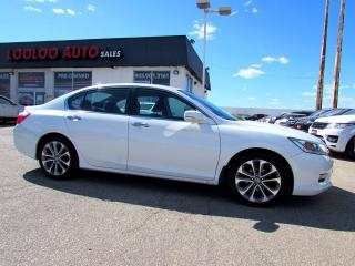 Used 2013 Honda Accord Sport Sedan Automatic Camera Bluetooth Certified for sale in Milton, ON