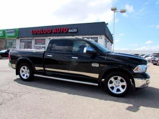 Used 2015 RAM 1500 Laramie Longhorn Crew Cab 4WD Navi Camera Certified for sale in Milton, ON