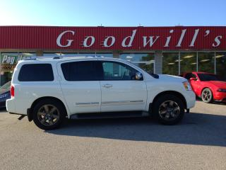 Used 2013 Nissan Armada PLATINUM! CLEAN CARFAX! HEATED LEATHER! NAV! B/T! for sale in Aylmer, ON