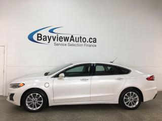 Used 2019 Ford Fusion Energi SEL - HYBRID! HTD SEATS! ADAPTIVE CRUISE! ONLY 8800KMS! + MORE! for sale in Belleville, ON