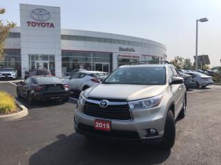 Used 2015 Toyota Highlander Limited LIMITED V6 - CLEARANCE AND BACKUP SENSORS - PANORAMIC GLASS ROOF for sale in Stouffville, ON