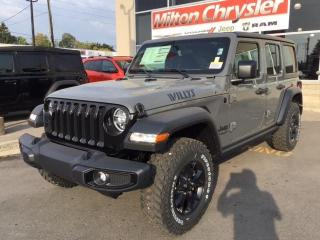 New 2021 Jeep Wrangler Unlimited WILLYS 4X4 / DUAL TOPS for sale in Milton, ON