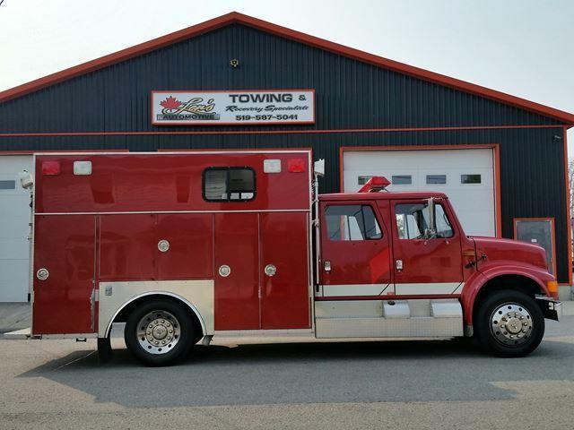 1992 International 4600 CREW CAB FIRE RESCUE TRUCK