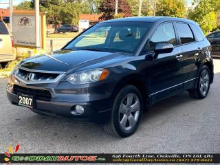 Used 2007 Acura RDX Tech Pkg|LOW KM|NO ACCIDENT|SUNROOF|NAVI|CERTIFIED for sale in Oakville, ON