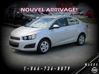 Used 2012 Chevrolet Sonic LS + AUTOMATIQUE + JAMAIS ACCIDENTÉ + ÉC for sale in Magog, QC