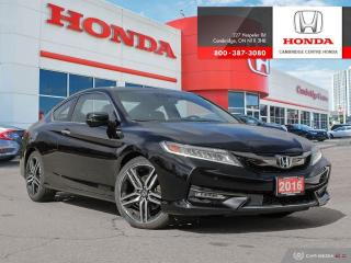 Used 2016 Honda Accord Touring LEATHER INTERIOR | REARVIEW CAMERA WITH GUIDELINES | POWER SUNROOF for sale in Cambridge, ON