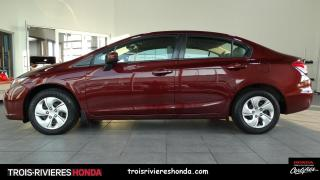Used 2015 Honda Civic LX + BLUETOOTH + CAMERA DE RECUL ! for sale in Trois-Rivières, QC