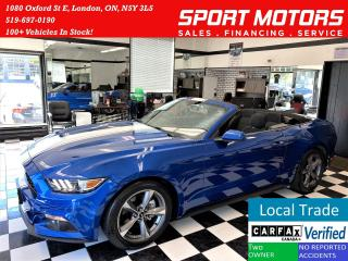 Used 2017 Ford Mustang 3.7L V6 Convertible+Camera+ACCIDENT FREE for sale in London, ON