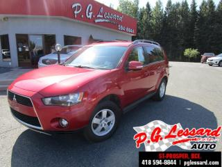 Used 2013 Mitsubishi Outlander Ls v6 awd camera siege chauffant bluetooth for sale in St-Prosper, QC