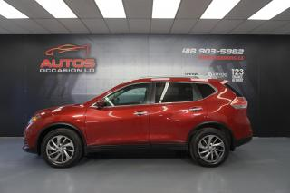 Used 2015 Nissan Rogue SL AWD CUIR TOIT PANO CAMERA 360 GPS NAV 99 918 KM for sale in Lévis, QC