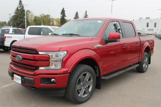 New 2020 Ford F-150 Lariat 502A, 4x4 supercrew, 5.0l V8, auto start/stop, lane keeping system, rear view camera, remote keyless entry, remote vehicle start, heated seats, heated steering wheel, navigation for sale in Edmonton, AB