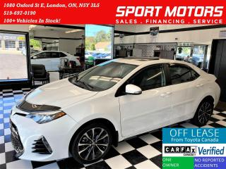 Used 2017 Toyota Corolla SE+Sunroof+Adaptive Cruise+ACCIDENT FREE for sale in London, ON