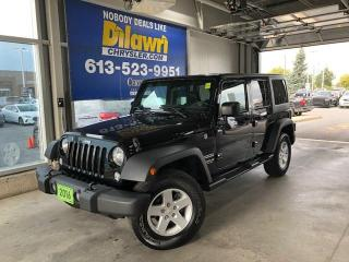 Used 2016 Jeep Wrangler Unlimited Sport S Unlimited 4X4 | 3.73 Axle Hard Top & A/C for sale in Nepean, ON