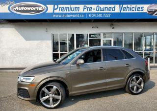 Used 2016 Audi Q3 Local One Owner, No Accidents, Technik, S Line AWD for sale in Langley, BC