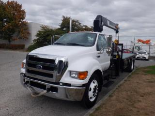 Used 2006 Ford F-650 Flat Deck 18 Feet with Crane Diesel for sale in Burnaby, BC