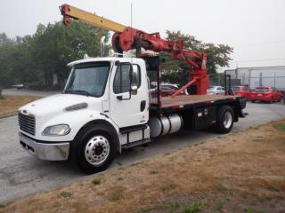Used 2007 Freightliner M2106 Diesel 16 Foot Flat Deck with Crane and Air Brakes for sale in Burnaby, BC