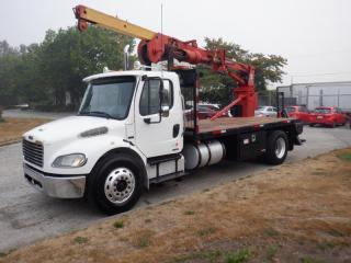Used 2007 Freightliner M2106 Crane Truck Diesel 16 foot deck Air Brakes for sale in Burnaby, BC