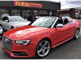 Used 2013 Audi S5 CONVERTIBLE-PROGRESSIV-NAVIGATION-BLUETOOTH-AWD for sale in Laval, QC
