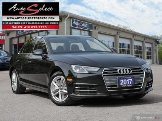 Used 2017 Audi A4 Quattro AWD ONLY 105K! **CLEAN CARPROOF** KOMFORT PKG for sale in Scarborough, ON