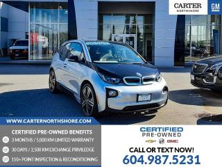 Used 2015 BMW i3 w/Range Extender DC FAST CHARGE - NAVIGATION - HEATED SEATS for sale in North Vancouver, BC
