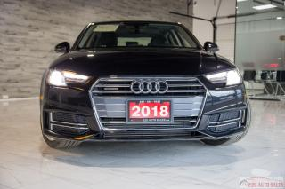 Used 2018 Audi A4 Komfort|ACCIDENT FREE|LEATHER|SUNROOF|BACKUP CAM for sale in Brampton, ON