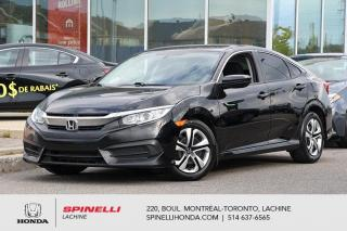 Used 2016 Honda Civic LX AUTO CRUISE BLUETOOTH AUTO AC CRUISE BLUETOOTH for sale in Lachine, QC
