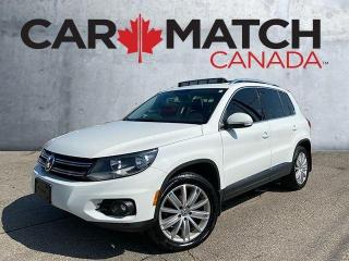 Used 2016 Volkswagen Tiguan HIGHLINE / LEATHER / NAV / ROOF for sale in Cambridge, ON