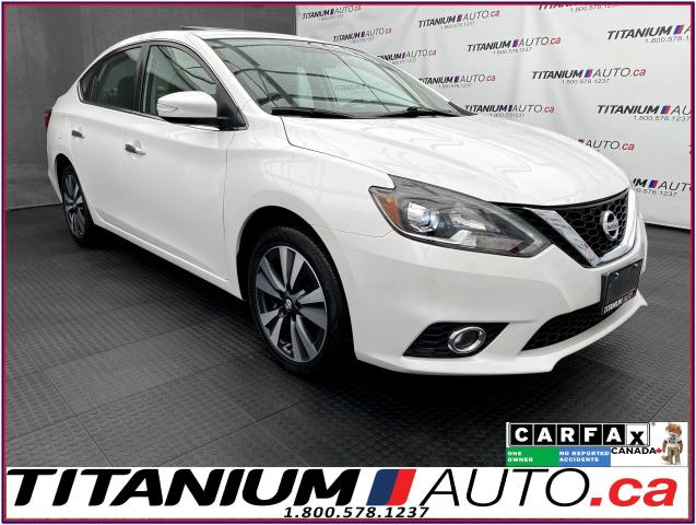 2017 Nissan Sentra SL+GPS+Camera+Radar Cruise+BSM+Leather+Sunroof+XM