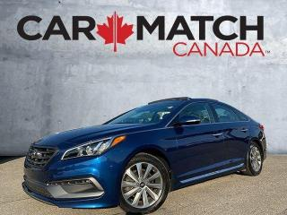 Used 2017 Hyundai Sonata 2.4L SPORT TECH / NAV / NO ACCIDENTS for sale in Cambridge, ON