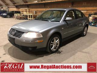 Used 2001 Volkswagen NEW PASSAT GLX 4D SEDAN AWD for sale in Calgary, AB
