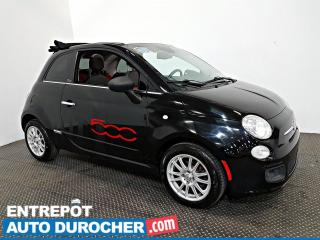Used 2015 Fiat 500 Décapotable - Automatique - A/C - Cuir for sale in Laval, QC