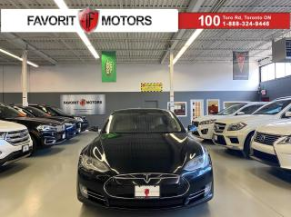 Used 2014 Tesla Model S 85|NAV|PANOROOF|CREAM LEATHER|TRUNK SEATS|ALLOYS|+ for sale in North York, ON