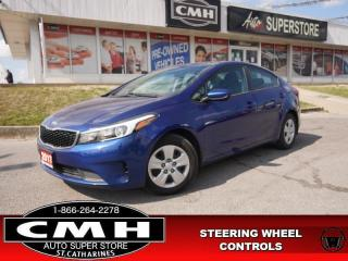 Used 2017 Kia Forte LX  PWR-GROUP AC BT S/W-COTROLS AUTO for sale in St. Catharines, ON