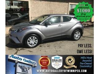 Used 2019 Toyota C-HR B.cam/B.tooth for sale in Winnipeg, MB