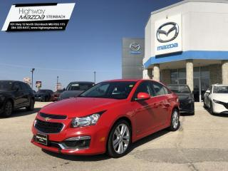 Used 2015 Chevrolet Cruze LT Turbo RS Package - Bluetooth - Power Sunroof for sale in Steinbach, MB