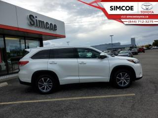 Used 2017 Toyota Highlander XLE  - Navigation -  Sunroof - $267 B/W for sale in Simcoe, ON