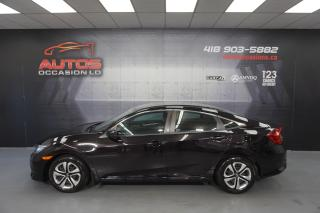 Used 2016 Honda Civic LX MANUEL BLUETOOTH SIÈGES CAMERA 57 418 KM !! for sale in Lévis, QC
