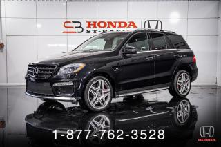 Used 2014 Mercedes-Benz ML-Class ML63 AMG + NAVI + CUIR + CAMERA + WOW! for sale in St-Basile-le-Grand, QC