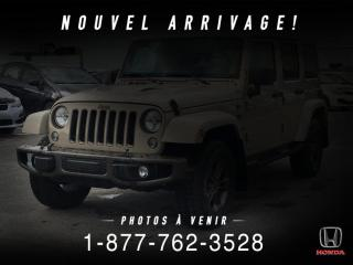 Used 2016 Jeep Wrangler 75e ANNIV + 4 PORTES + CUIR + WOW! for sale in St-Basile-le-Grand, QC