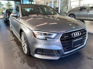 Used 2018 Audi A3 Sedan Technik 2.0 TFSI quattro AWD, ACCIDENT FREE, POWER HEATED LEATHER SEATS, SUNROOF, NAVI for sale in Edmonton, AB
