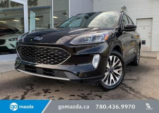 Used 2020 Ford Escape TITANIUM - HYBRID, AWD, LEATHER, LOW KMS, NAV, GREAT DEAL! for sale in Edmonton, AB