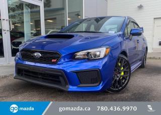 Used 2018 Subaru WRX STI - SPORT TECH PKG, BACK UP, BLUETOOTH, LOW KMS for sale in Edmonton, AB