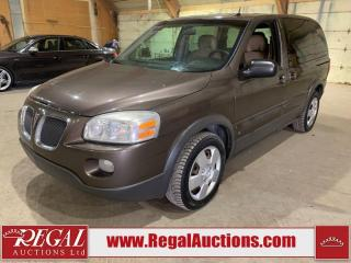 Used 2009 Pontiac Montana Sv6 4D EXTENDED SPORTS VAN FWD for sale in Calgary, AB