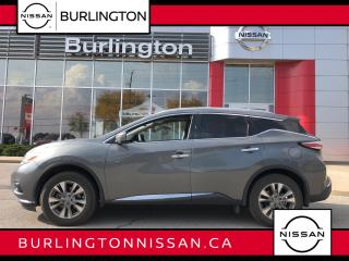 Used 2016 Nissan Murano SL, ACCIDENT FREE, 1 OWNER ! for sale in Burlington, ON