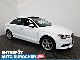 Used 2016 Audi A3 2.0T Komfort AWD Automatique - Toit Ouvrant - A/C for sale in Laval, QC