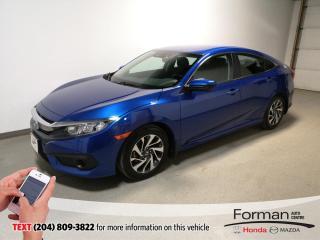 Used 2018 Honda Civic SE|Rmt Start|Heated Seats|Camera|Warranty|Carplay for sale in Brandon, MB