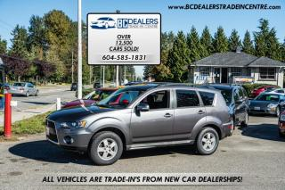 Used 2010 Mitsubishi Outlander 4WD LS, Only 161k, V6, Rare Third Row Seats, Clean! for sale in Surrey, BC