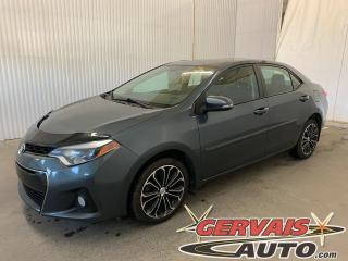 Used 2016 Toyota Corolla S Cuir/Tissus Toit Ouvrant Caméra Bluetooth Mags *Transmission Automatique* for sale in Trois-Rivières, QC