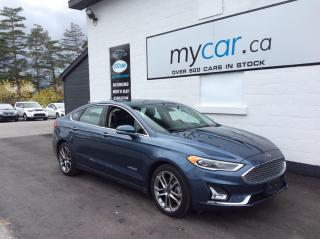 Used 2019 Ford Fusion Hybrid Titanium LEATHER, SUNROOF, HEATED SEATS, BEAUTY!! for sale in Richmond, ON